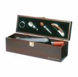COSTI#RES Drewniane pudełko na wino z logo (KC2690-40)