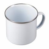 Kubek emaliowany Oldie 500 ml, biały  (R08230.06)