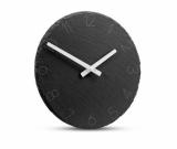 Zegar kamienny AIDEN grafitowy (03081)