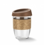 Kubek szklany SKLO 380 ml brązowy (16009-09)