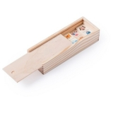 Gra domino w drewnianym pudełku (V7875-17)