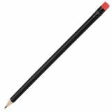 Ołówek drewniany, czerwony/czarny z logo (R73772.08)