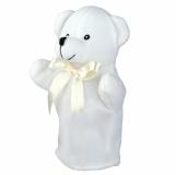 Pacynka Teddy Bear, biały z nadrukiem (R73903.06)
