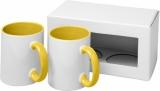 2-częściowy zestaw upominkowy Ceramic składający się z kubków z nadrukiem sublimacyjnym (10062605)
