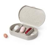 Bambusowy pojemnik na tabletki z 3 przegrodami (V8854-00)