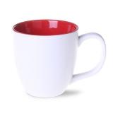 Kubek AMERICANO PURE 450 ml biało/czerwony (M457_AE_A0450_0)