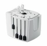 MUV USB. 2-POLE Adapter podróżny z logo (MO9324-06)