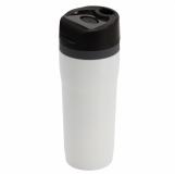 Kubek izotermiczny Winnipeg 350 ml, biały/czarny z logo (R08394.06)
