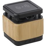 Bambusowy głośnik bezprzewodowy 3W, ładowarka bezprzewodowa 3W (V0121-16)