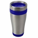 Kubek izotermiczny Boden 430 ml, niebieski/srebrny z grawerem (R08367.04)