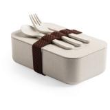Bambusowe pudełko śniadaniowe 1 L, sztućce (V8844-00)