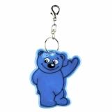 Brelok odblaskowy Beary, niebieski z nadrukiem (R73245.04)