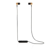 Bambusowe bezprzewodowe słuchawki douszne (P329.109)