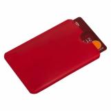 Etui na kartę zbliżeniową RFID Shield, czerwony z logo (R50169.08)