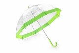 Parasol transparentny SKY zielony jasny (37037-13)