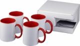 4-częściowy zestaw upominkowy Ceramic składający się z kubków z nadrukiem sublimacyjnym (10062803)