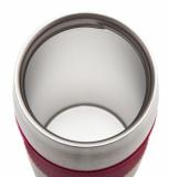 Kubek izotermiczny Harbin 350 ml, czerwony z logo (R08285.08)