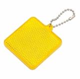 Światełko odblaskowe Square Reflect, żółty z logo (R73164.03)