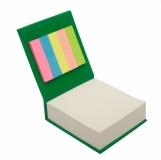 Blok z karteczkami, zielony z logo (R73674.05)