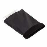 Skrobaczka do szyb z rękawicą, czarny z nadrukiem (R17782.02)