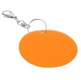 Brelok odblaskowy Reflect, pomarańczowy z nadrukiem (R73251.15)