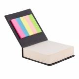 Blok z karteczkami, czarny z logo (R73674.02)