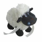 Maskotka Black Sheep, czarny/biały z logo (R73887)
