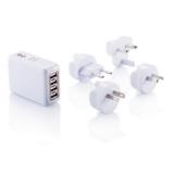Podróżna wtyczka z 4 portami USB (P820.373)