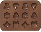 Foremki do czekolady bożonarodzeniowe DELÍCIA CHOCO z logo (TS629372.0001)