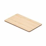 CUSTOS + Karta RFID wykonana z bambusa   z logo (MO6200-40)