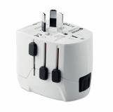 PRO LIGHT USB. 3-POLE Wtyczka podróżna z logo (MO9322-06)