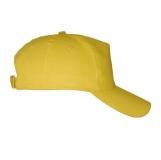 Czapka z daszkiem Coimbra, żółty z nadrukiem (R08720.03)