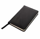 Notatnik 90x140/80k kratka Luster, czarny z logo (R64217.02)