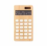 CALCUBIM 12-cyfrowy kalkulator, bambus   z logo (MO6216-40)