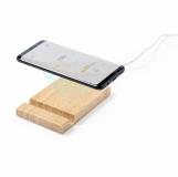 Bambusowa ładowarka bezprzewodowa 5W, stojak na telefon, stojak na tablet (V0157-00)