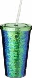 Akrylowy kubek Festus z cekinami o pojemności 470 ml (10059601)