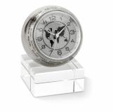 WORLDTIME Analogowy zegar biurkowy z logo (MO8102-17)