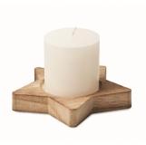 LOTUS Świeca na drewnianej podstawce  z logo (CX1481-40)