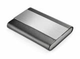 Wizytownik czarno-srebrny (07504-00)