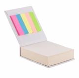 Blok z karteczkami, biały z logo (R73674.06)