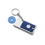 Brelok do kluczy, żeton do wózka na zakupy, lampka LED (V2452-04)