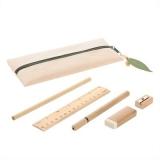 Zestaw szkolny, piórnik, ołówek, długopis, linijka, gumka i temperówka (V7365-20)