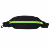 Saszetka sportowa na pas Ease, czarny/jasnozielony z logo (R73626.02)