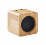 AUDIO Głośnik bezprzewodowy, bambus z logo (MO9894-40)