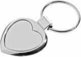 Metalowy brelok Stout Heart, srebrny z grawerem (R73277)
