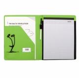Teczka A4 Melfi, zielony/czarny z logo (R89492.05)