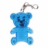 Brelok odblaskowy Teddy, niebieski z logo (R73235.04)