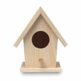 BIRDIE HOUSE Drewniany domek dla ptaków z logo (MO9011-13)