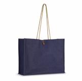 TUTTI Jutowa torba na zakupy z logo (IT3063-21)