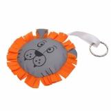 Maskotka odblaskowa Lion, pomarańczowy z logo (R73838.15)